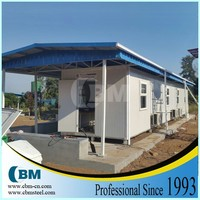 prefab sandwich panel container house villa