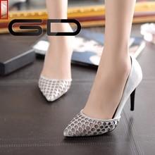 2015 mature italian fashion gold high heels sexy design dress shoes for women online shopping