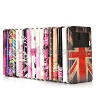 View Window Design Flip Stand PC+PU Leather Case for Samsung Galaxy Note 4 N910