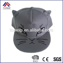Cutom 2015 de lastest snapback caps para niños animal cat snapback