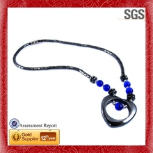 Wholesale Fashion Jewelry Rose Rhinestones matt black plating necklace