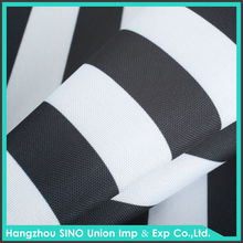Black white striped polyester waterproof oxford fabric