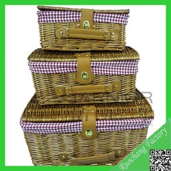2015 Newest nature beer crate with cover/handmade straw basket/storage basket for home decor,L-186