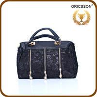 Women Shopping Shopper Lace Cover Satchel Tote Cross Body Shoulder Bag Handbag