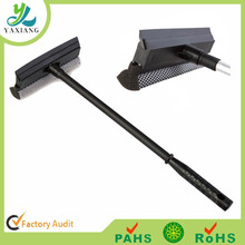 2015 High quality soft plastic rubber squeegee with black fabric wrap for window