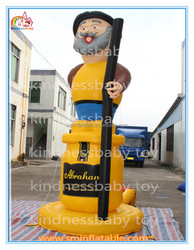Outdoor giant advertising inflatable model ,inflatable old man with walking stick cartoon for sale
