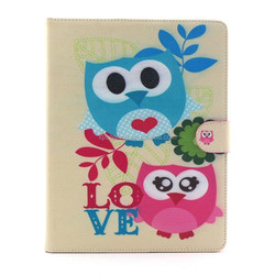for ipad 3 wallet flip case, for ipad 4 owl design leather case, anchor pu case for ipad 2 3 4