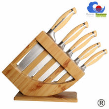 hot sale high quality wooden stand kitchen knife set