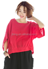 charming lucky sleeves fashionable women's t shirt