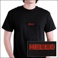 2015 fashion mens t-shirt Scrolling message led flashing t-shirts