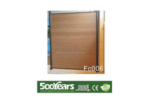 Hot sale wood plastic composite WPC fence 1800*1800mm good price with new modern