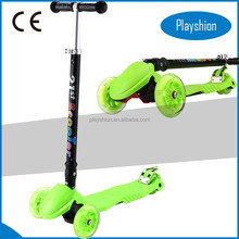 4 wheel folding scooter with adujustable handlebar for teenagers