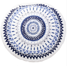 large size 150*150 100% cotton newfangled printed beach towel round