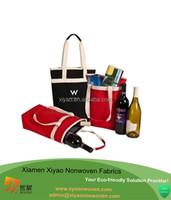 12 oz wholesale canvas wine tote bottole bag