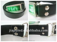 2015 belts with changeable buckles,PU belt with LED Buckle with high quality