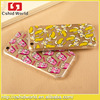 New Ultra-thin Soft TPU Cut Cartoon Moving 3D Eyes Cat French fries banana Popcorn Case For iphone 5 5s 6 6s 6 6 Plus Novel