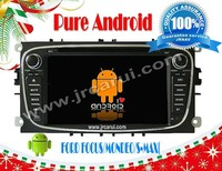 Pure Android 4.2 car audio dvd gps system with Capacitive touch screen for FORD FOCUS/MONDEO/ S-MAX/GALAXY,3G,WIFI,support OBD