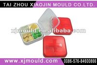 Injection plastic pill box mold