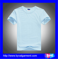 Summer men/women 100% cotton blank t-shirts short sleeve round neck t shirts made in China