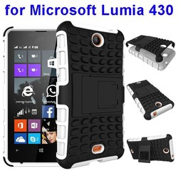 Hybrid Cell Phone Case for Nokia Lumia 430 Case with Kickstand