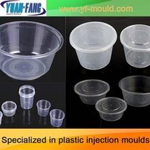 OEM de pared delgada caja de alimentos contenedor molde para inyección de plástico