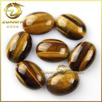Export Mexico market oval shape tiger eye semi precious stone
