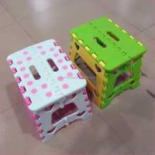 OEM anti-slip plastic folding step stool, plastic foldable stool for traveling