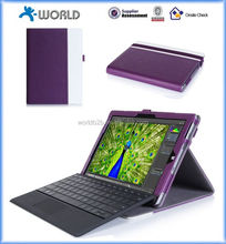 Dual Color Multi-view Stand PU Leather Folio Case for Microsoft Surface Pro 4