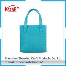 Ladies Womens cosmetic tote Shopping felt handle bag