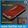 For iphone 6 plus leather case, 100% genuine leather case for iphone 6 plus