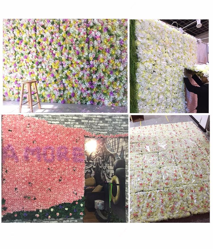 사용자 정의 디자인 장미 벽 장식 꽃 벽 배경-장식 꽃 & 화환 ...