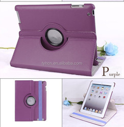 Ultra thin 360 Degree Rotary Stand Leather Case Cover For iPad 2 3 4, rotating cover for ipad 4