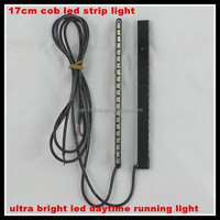 ultra bright 17cm daytime running light waterproof cob led car styling light drl driving fog lamp parking light