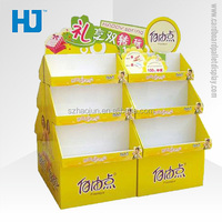 Double sides cardboard pallet display racks, promotional exhibition booth recycle stand for female sanitary napkin or towel