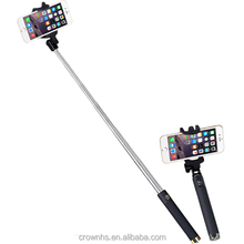 Multifunctional Extendable Remote Hand held Wireless Selfie Stick With Bluetooth Shutter Button for mobile phone