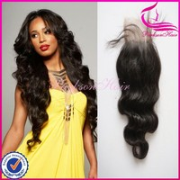 New products free parting lace closure 14inch cheap 100% virgin hair u part top closure hair piece