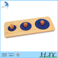 Chinese Montessori toddlers kindergarten teaching materials Three Piece Circle Puzzle