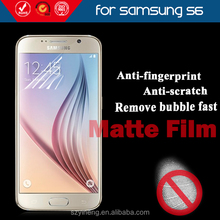 Factory Directly Supply for Samsung Galaxy S6 Anti Glare Cell Phone Screen Protector / Protective Film /Matte Protective Saver