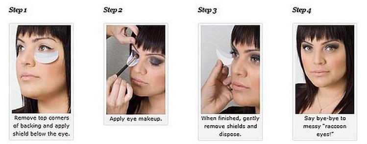 Eye shields for makeup