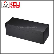Black glossy painted high quality wooden wine gift box