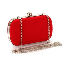 Bz8023 2015 hot selling Wholesale evening bags Korean flannel fashion banquet bags for women