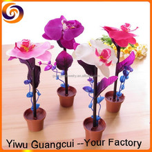 Plastic flower pot plant ball pen
