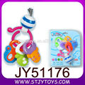 Top quality cartoon keychain baby rattle