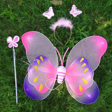Top quality handmade costume fairy wings led butterfly wings for adults QFW-1017
