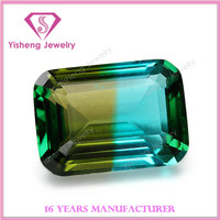 Synthetic Loose Rainbow Emerald Cut Glass Gems Hot Sale in China