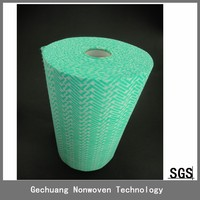 high quality disposable spunlace non woven wiper on rolls 25pcs/roll guangdong