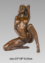 Decoración hogar interiores mujeres desnudas escultura de bronce erótica erótico figuras TPY-617