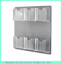 plexigalss clear wall hanging flyer holder pocket