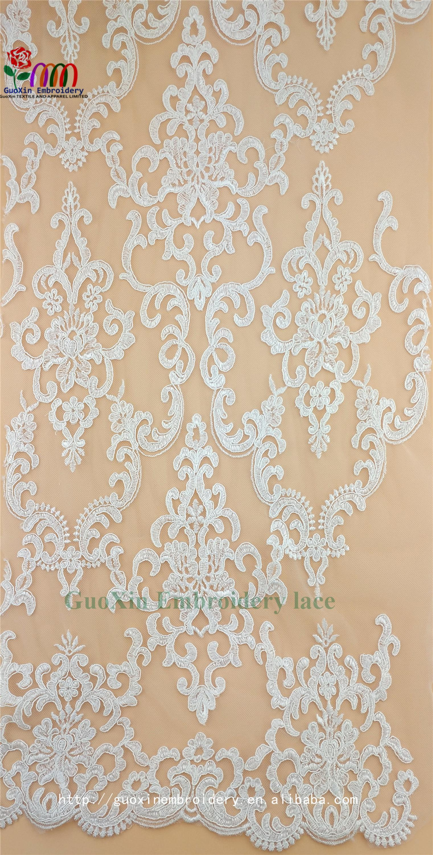 embroidery tulle manufacture wholesale wedding veil ivory lace fabric with cording (2).jpg