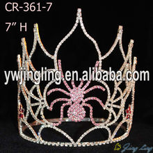 large design wholesale halloween spider pageant tiara and crown